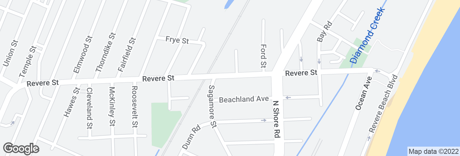 Map of Revere St @ Sagamore St and surrounding area
