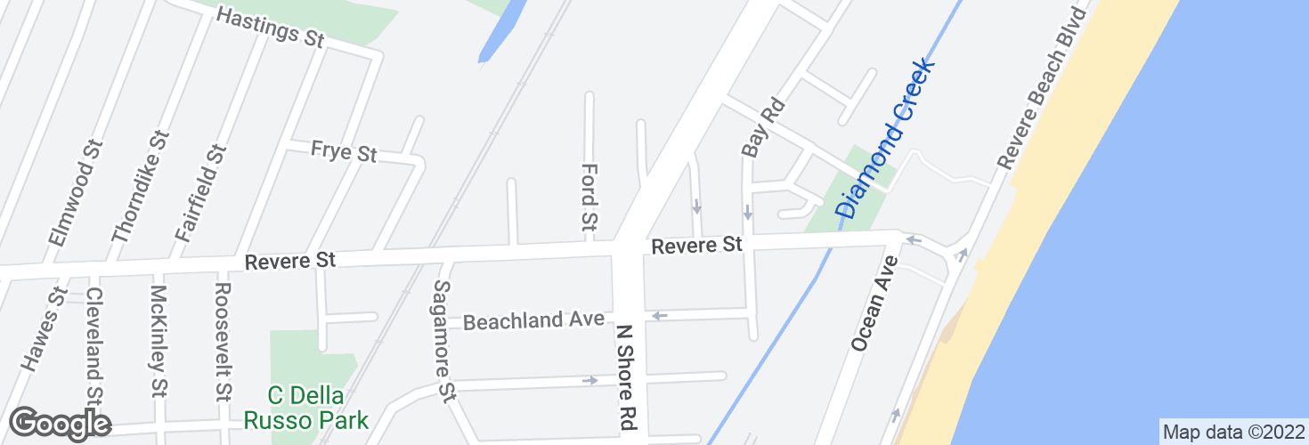 Map of N Shore Rd @ Revere St and surrounding area