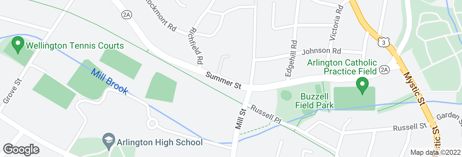 Map of Summer St @ Winthrop Rd and surrounding area