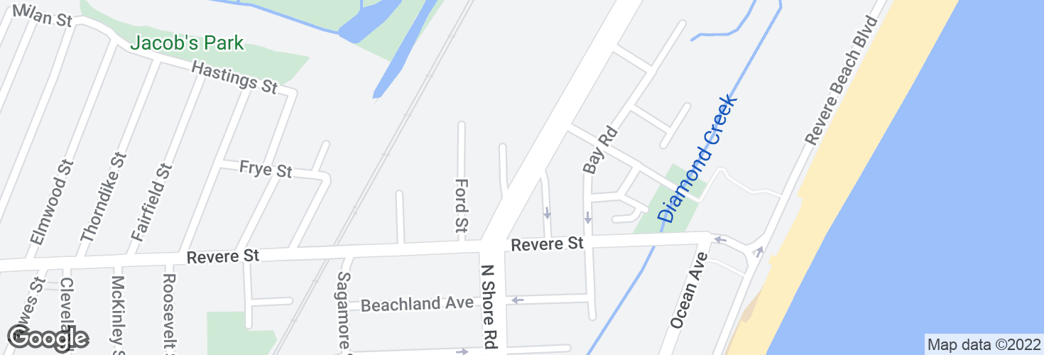 Map of N Shore Rd @ Freeman St and surrounding area