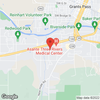 Map of Jill M Renton, DMD at 702 SW Ramey Ave,, Grants Pass, OR 97527