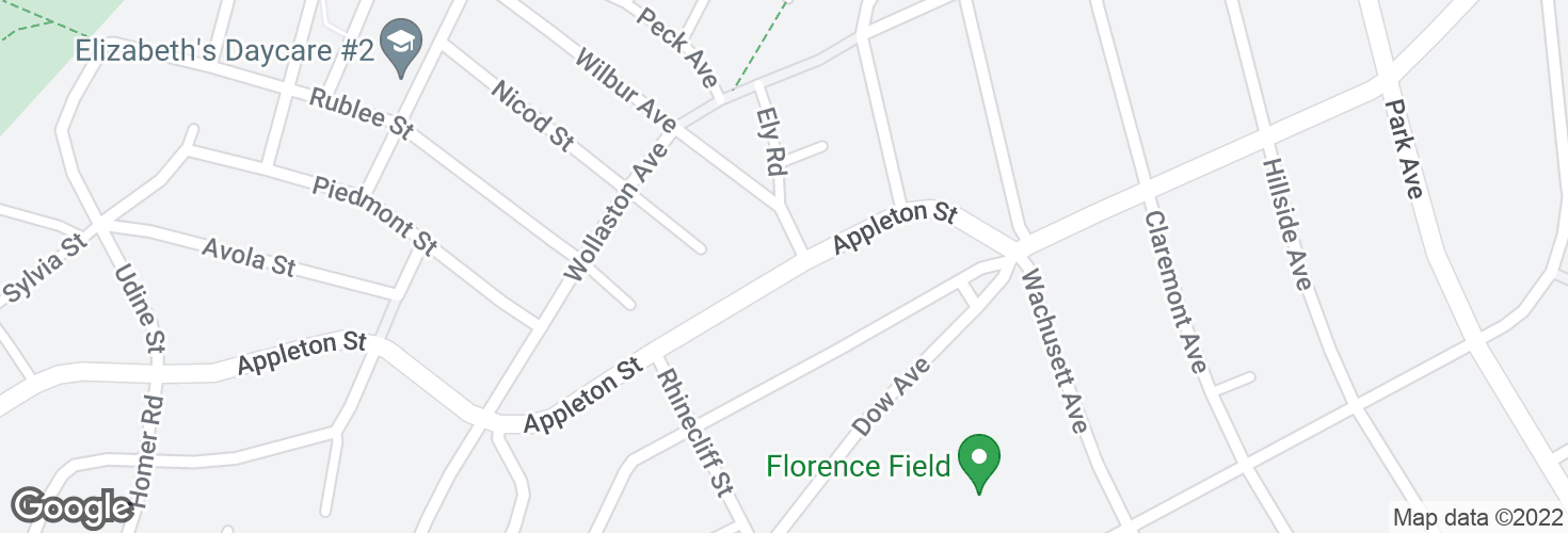 Map of Appleton St @ Ely Rd and surrounding area