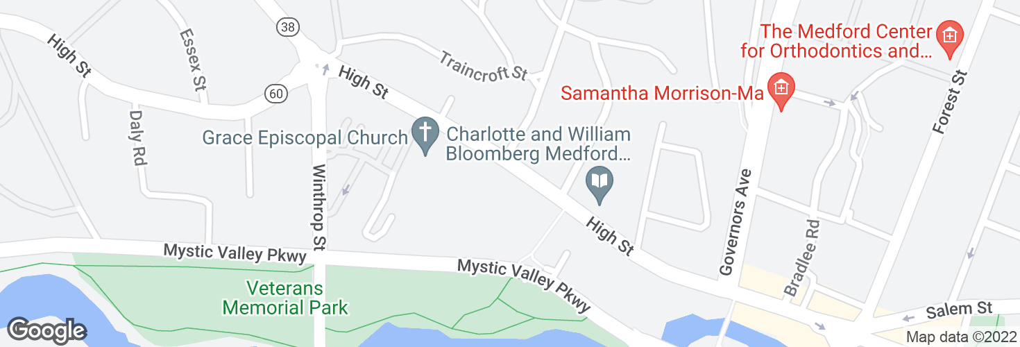 Map of High St opp Powder House Rd and surrounding area