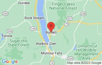 Map of Burdett