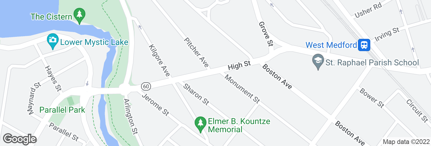 Map of High St @ Monument St and surrounding area
