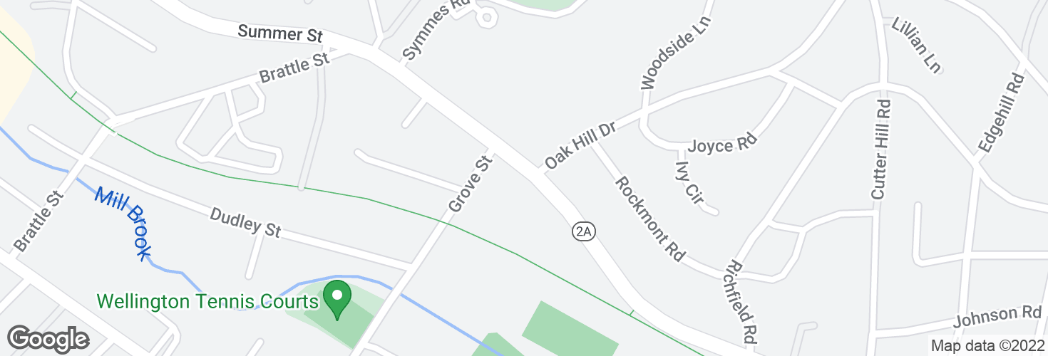 Map of Summer St opp Oak Hill Dr and surrounding area