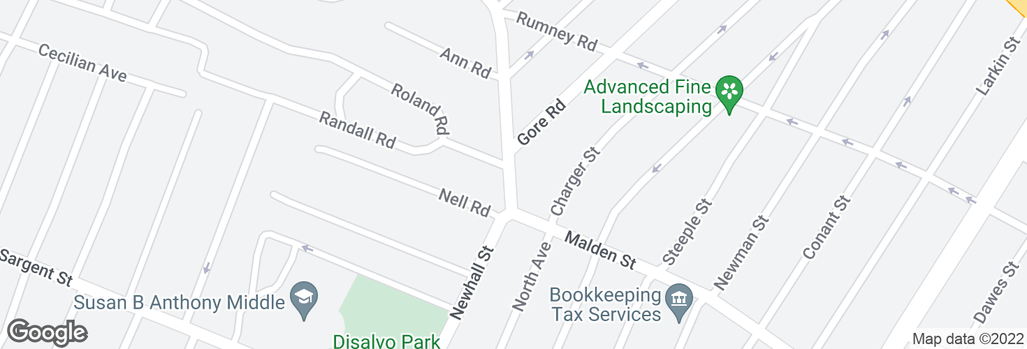 Map of Malden St @ Gore Rd and surrounding area
