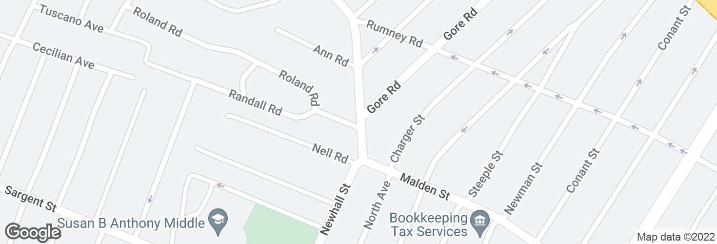 Map of Malden St @ Roland Rd and surrounding area