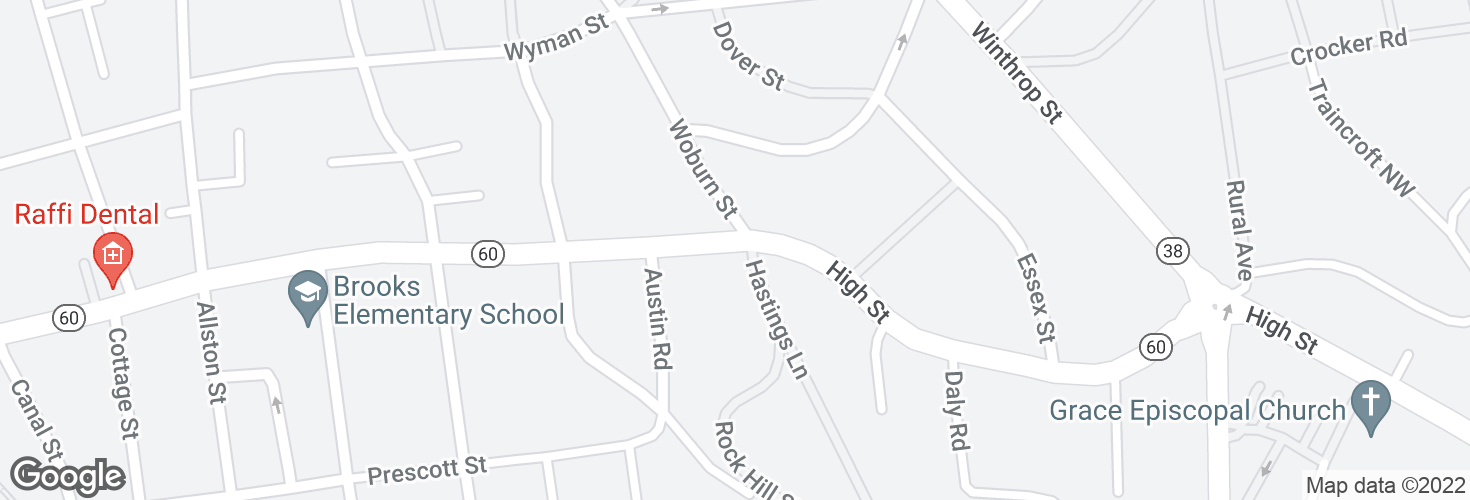 Map of High St @ Hastings Ln and surrounding area