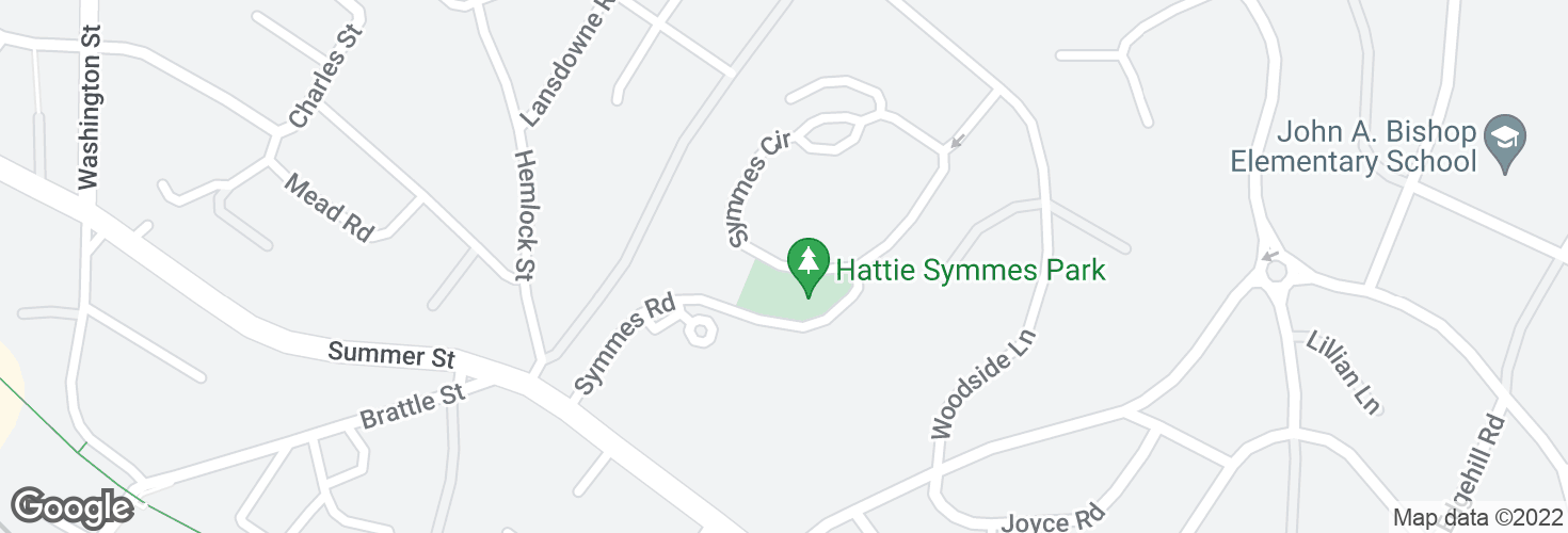 Map of Symmes Circle @ Symmes Rd and surrounding area