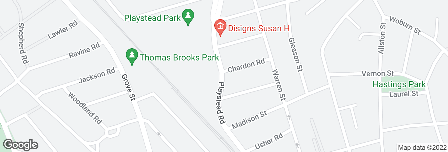 Map of Playstead Rd @ Chardon Rd and surrounding area