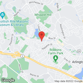 Map of Hair Cuttery at 1408 Massachusetts Avenue, Arlington, MA 02476