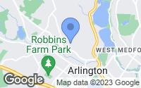 Map of Arlington, MA