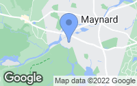 Map of Maynard, MA
