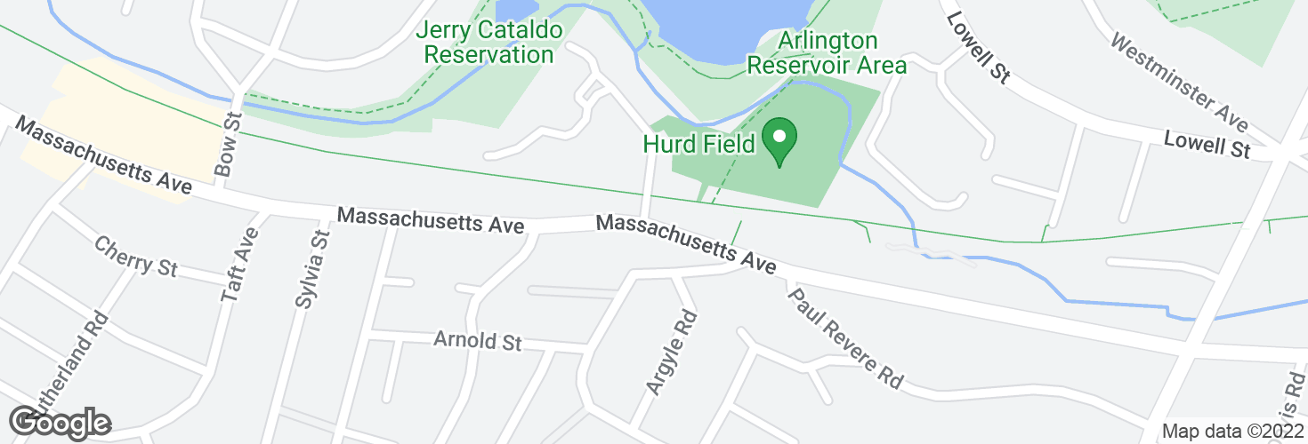 Map of Massachusetts Ave @ Drake Rd and surrounding area