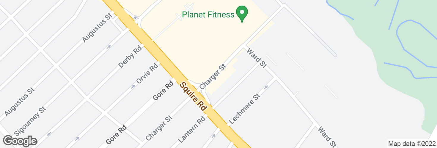 Map of Charger St @ Squire Rd and surrounding area