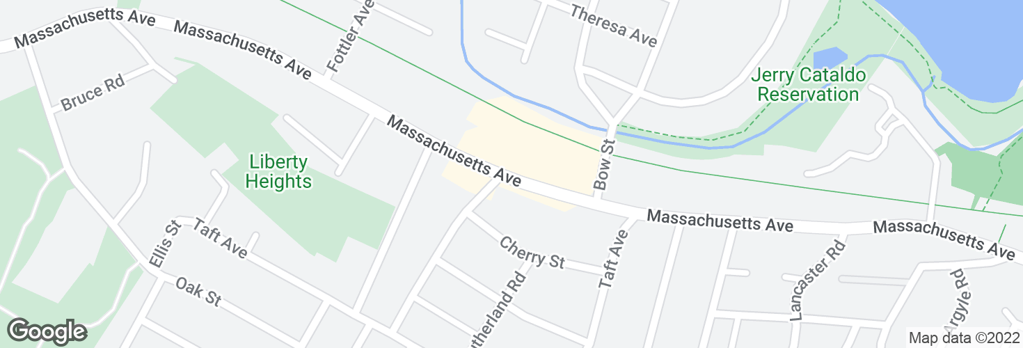 Map of Massachusetts Ave opp Charles St and surrounding area