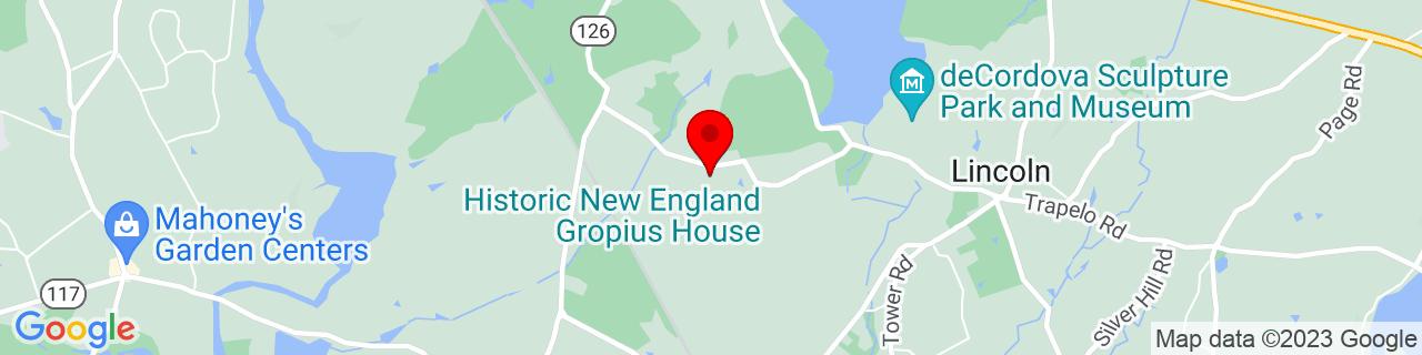 Google Map of 42.4270649, -71.3264037