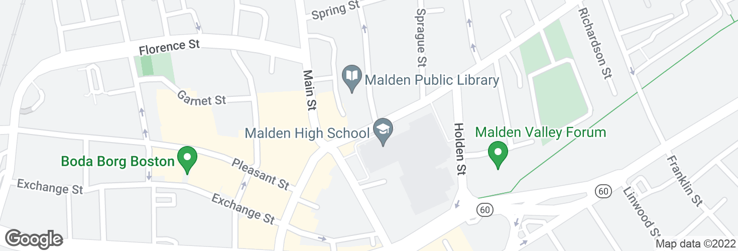 Map of Salem St @ Park St and surrounding area