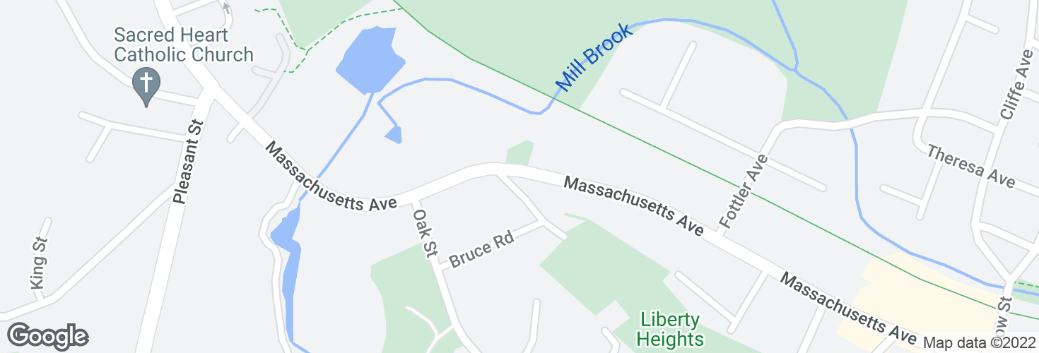 Map of 430 Massachusetts Ave and surrounding area
