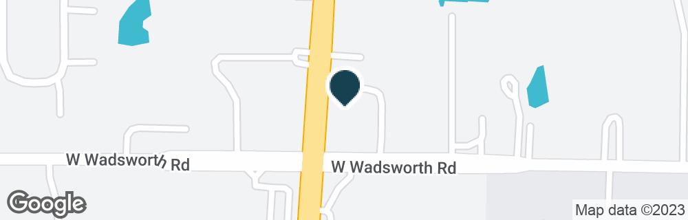 Google Map of39023 N GREEN BAY RD
