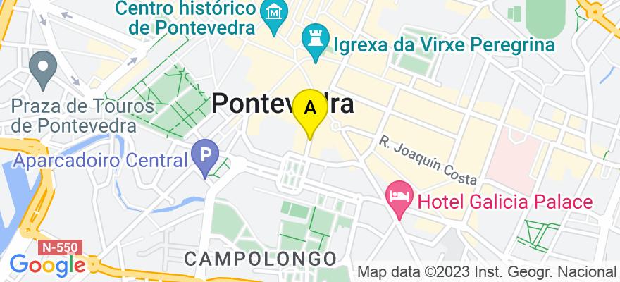 situacion en el mapa de . Direccion: C/ Andres Muruais nº12, 4º, 36001 Pontevedra. Pontevedra