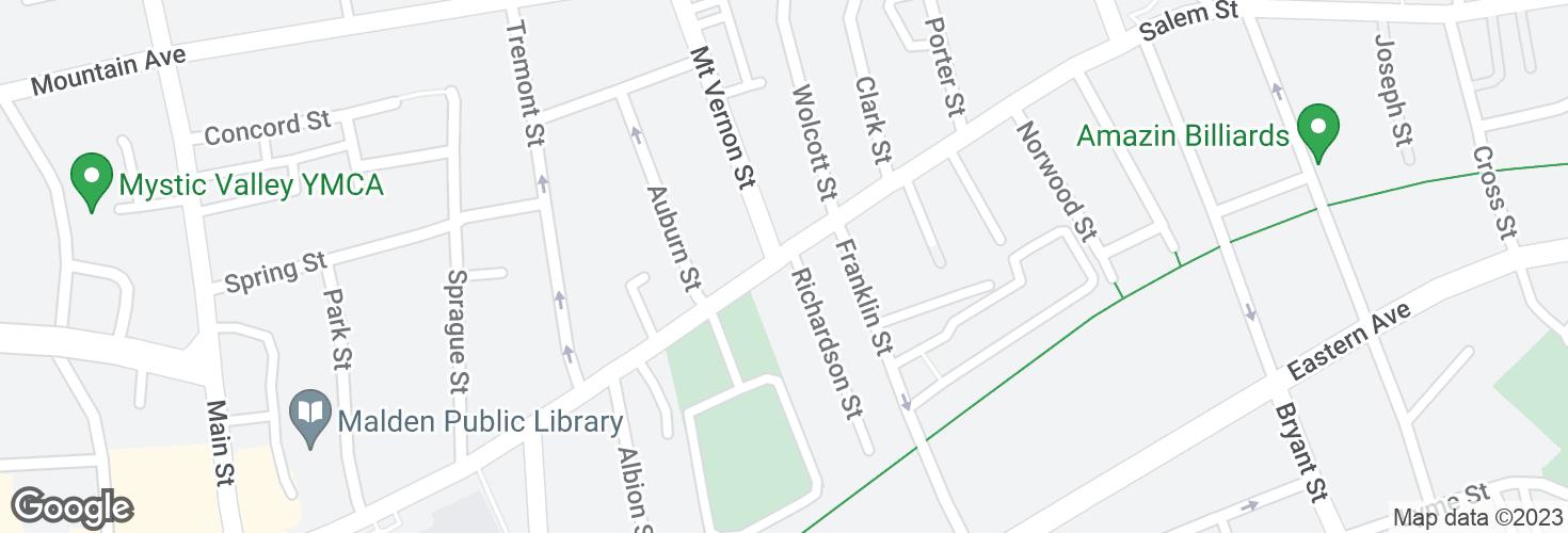 Map of Salem St @ Richardson St and surrounding area
