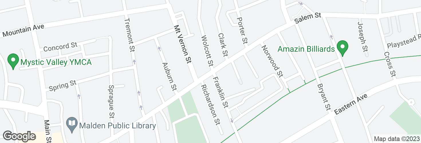 Map of Salem St @ Wolcott St and surrounding area