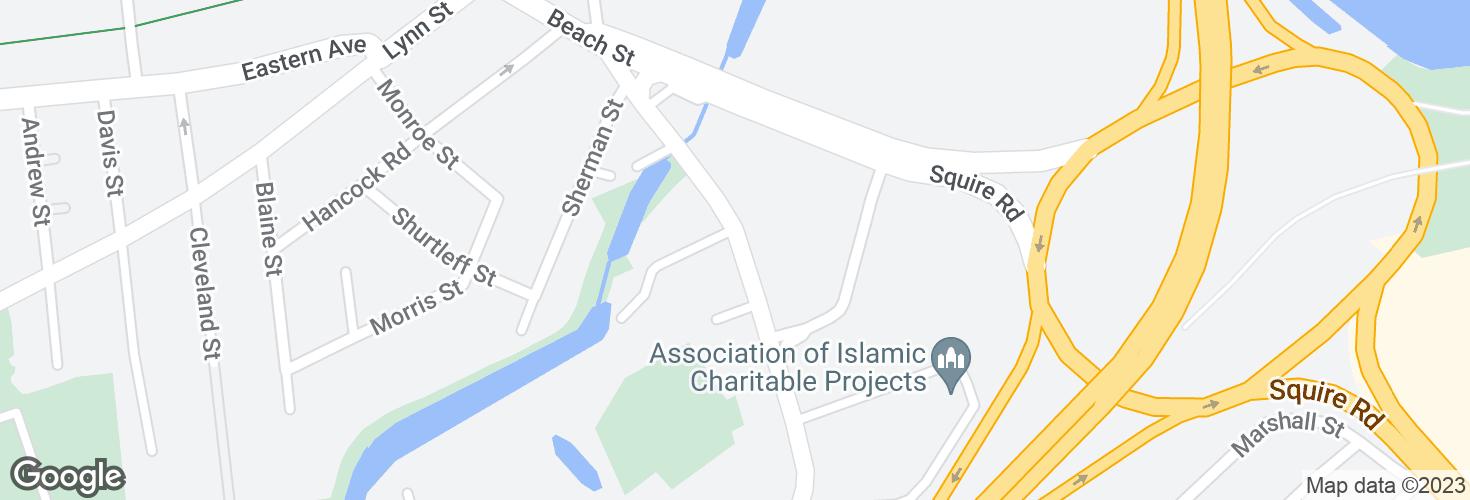 Map of Washington Ave @ Brookdale St and surrounding area