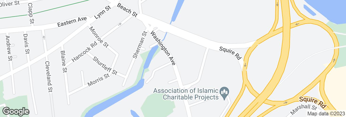 Map of Washington Ave opp Brookdale St and surrounding area