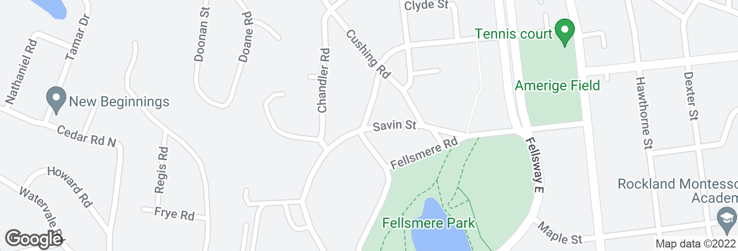 Map of Savin St @ Fellsmere Rd and surrounding area