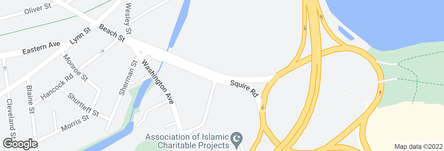 Map of Squire Rd @ Showcase Cinema and surrounding area