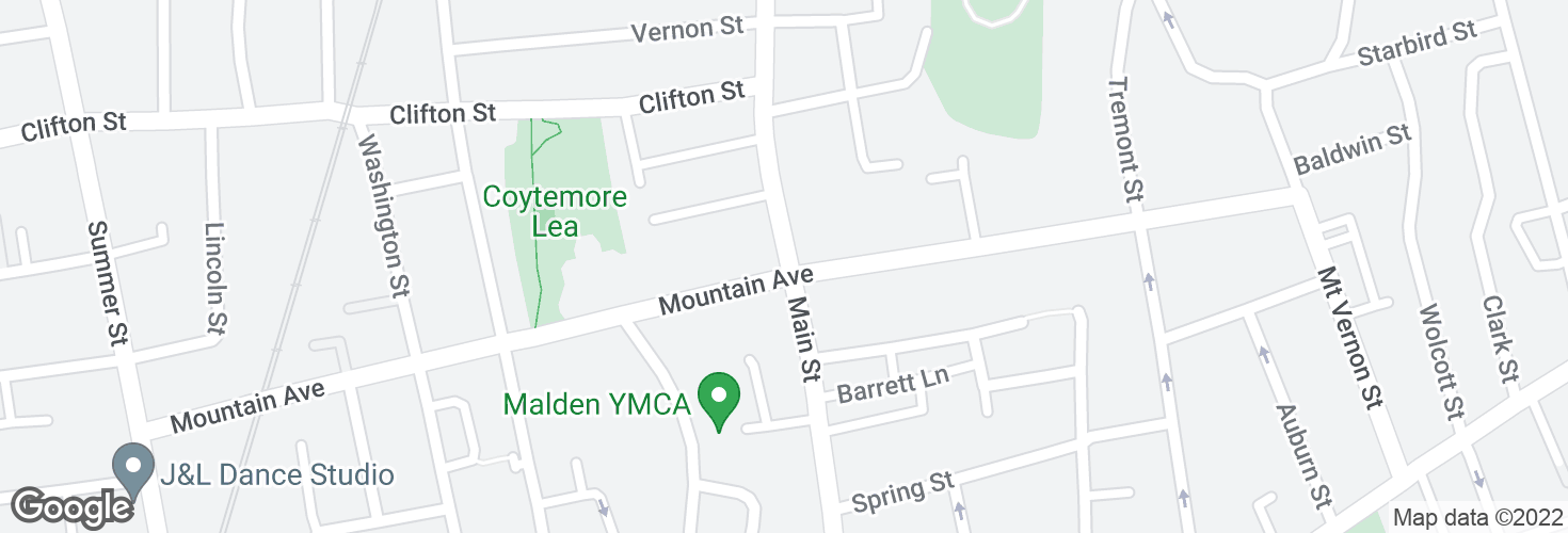 Map of Main St @ Mountain Ave and surrounding area