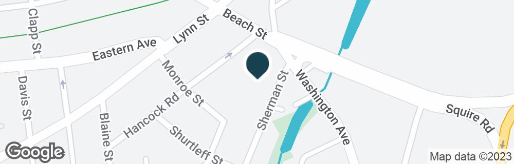 Google Map of215 BEACH ST