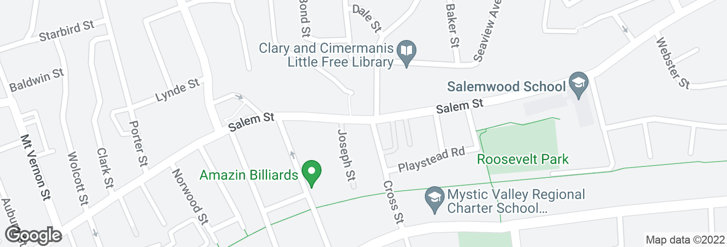 Map of Salem St @ Cross St and surrounding area
