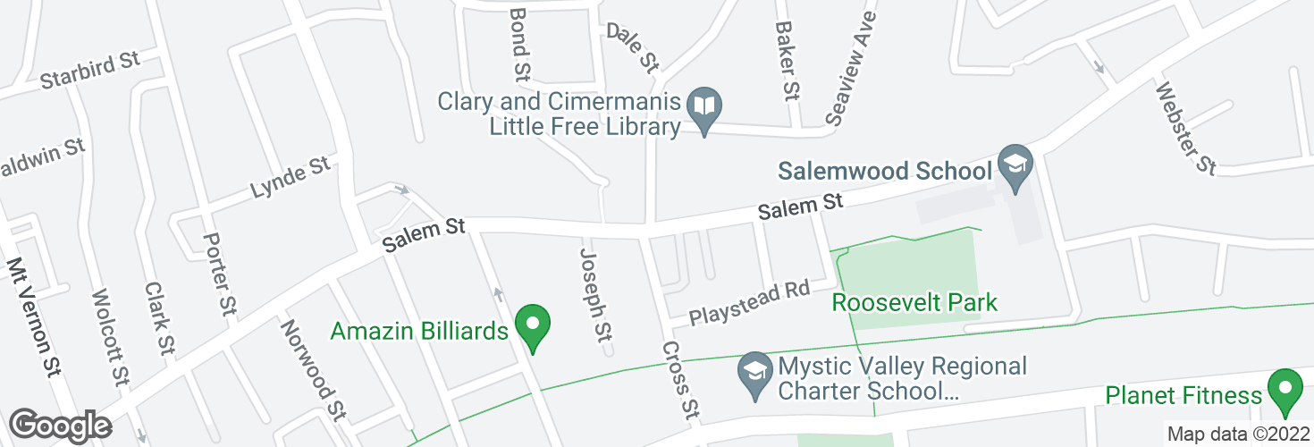 Map of Salem St @ Granville AVe and surrounding area