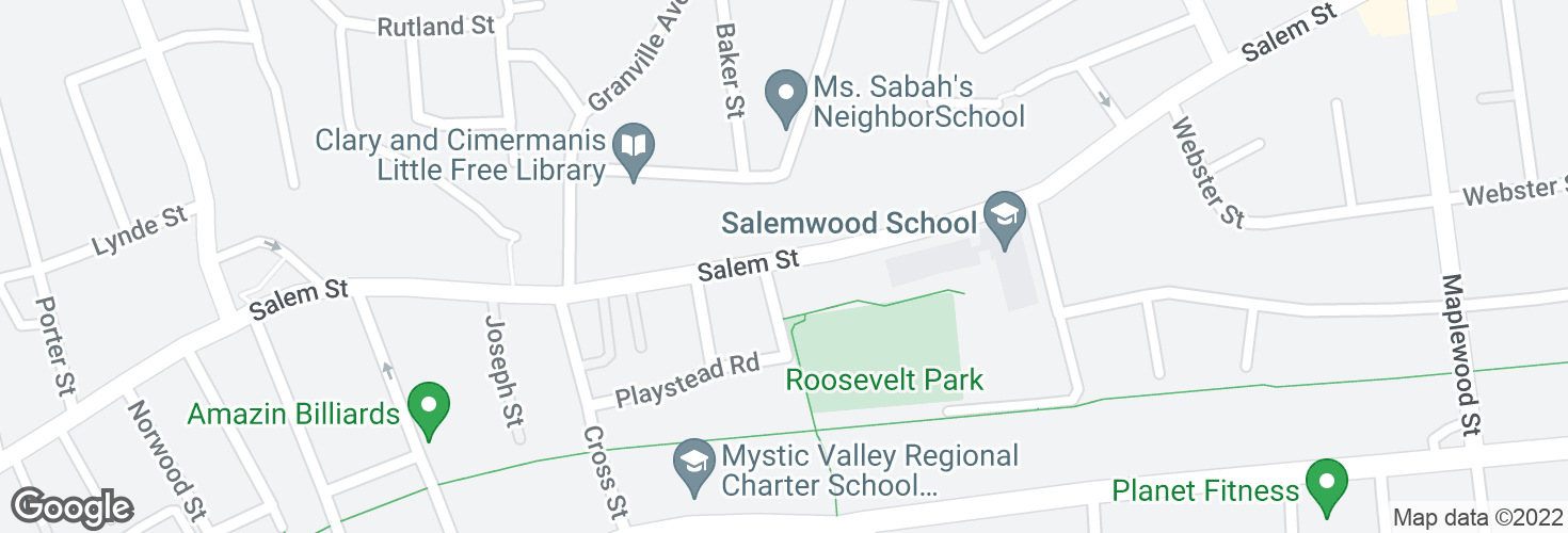 Map of Salem St @ Dell St and surrounding area