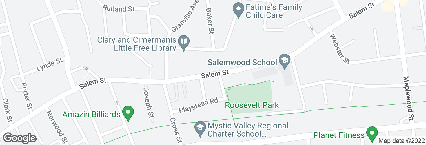 Map of 468 Salem St opp Dell St and surrounding area