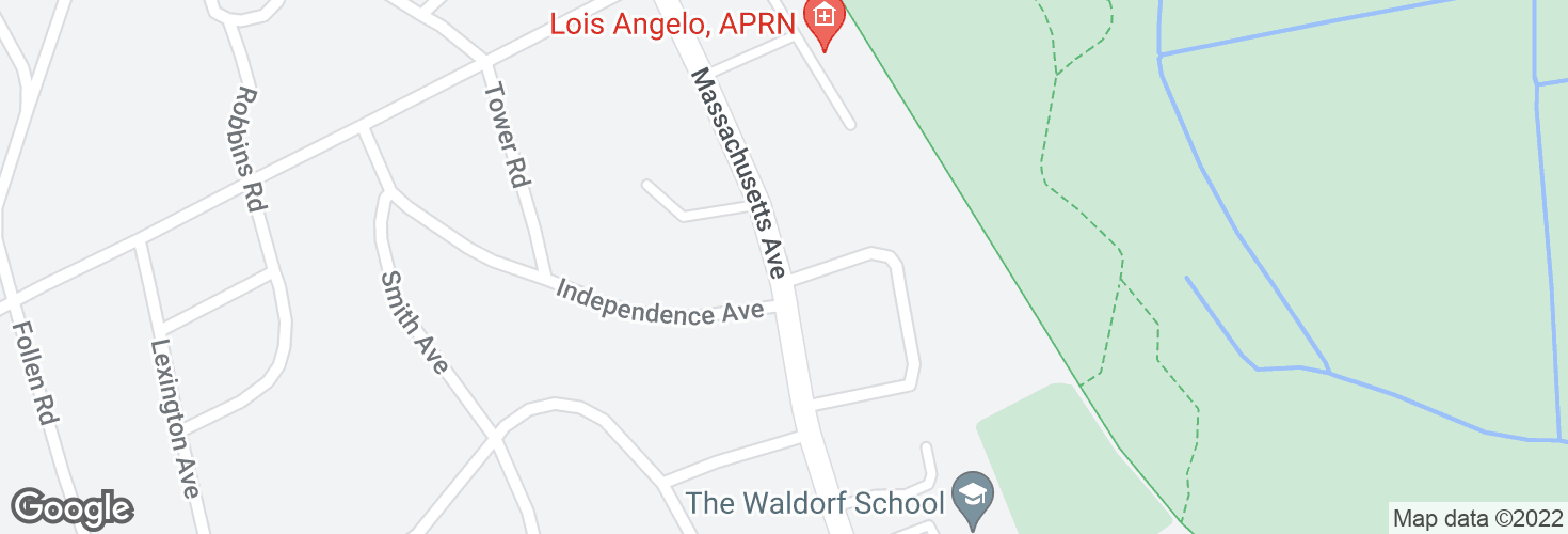 Map of Massachusetts Ave opp Independence Ave and surrounding area
