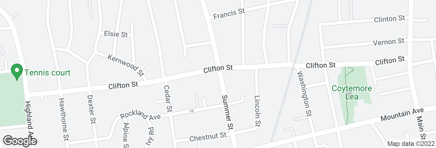 Map of Summer St @ Clifton St and surrounding area