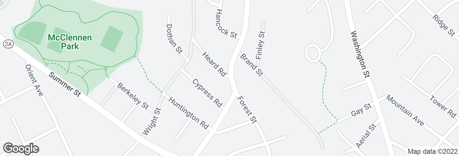 Map of Forest St @ Heard Rd and surrounding area