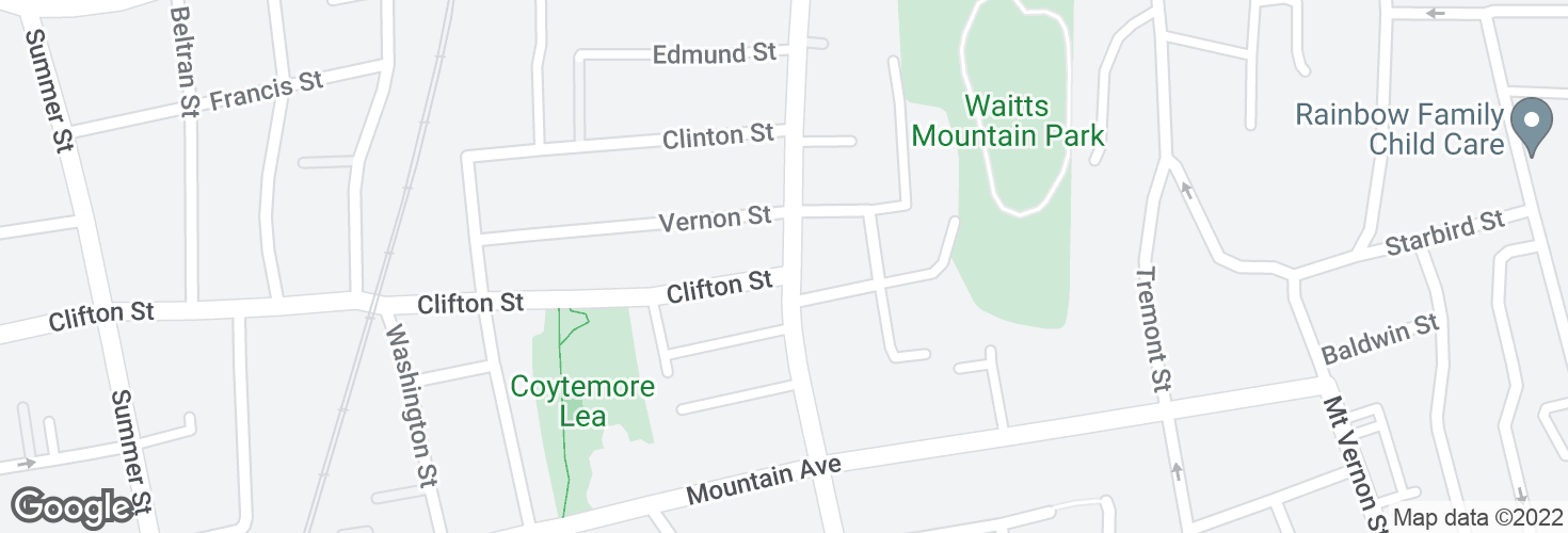 Map of Main St @ Clifton St and surrounding area