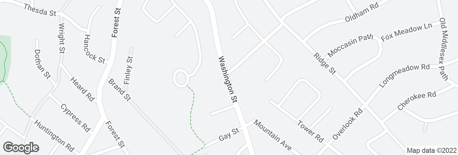Map of Washington St @ Mohawk Rd and surrounding area