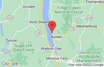 Map of Burdett