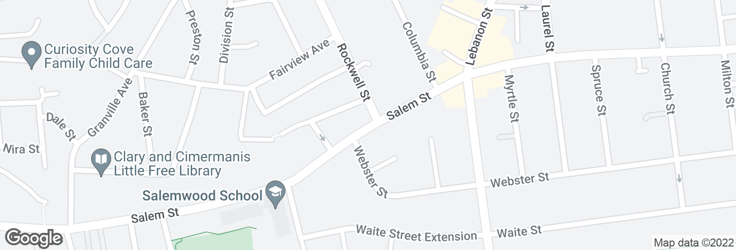 Map of Salem St @ Rockwell St and surrounding area
