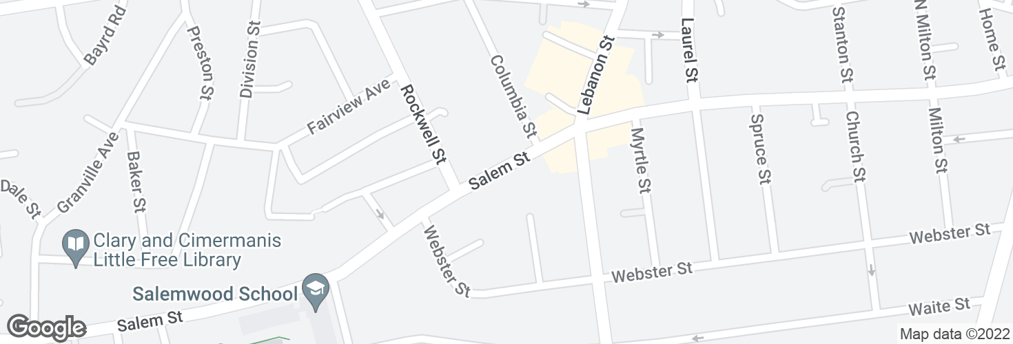 Map of 627 Salem St and surrounding area