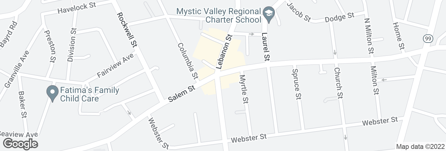 Map of Salem St @ Maplewood St and surrounding area