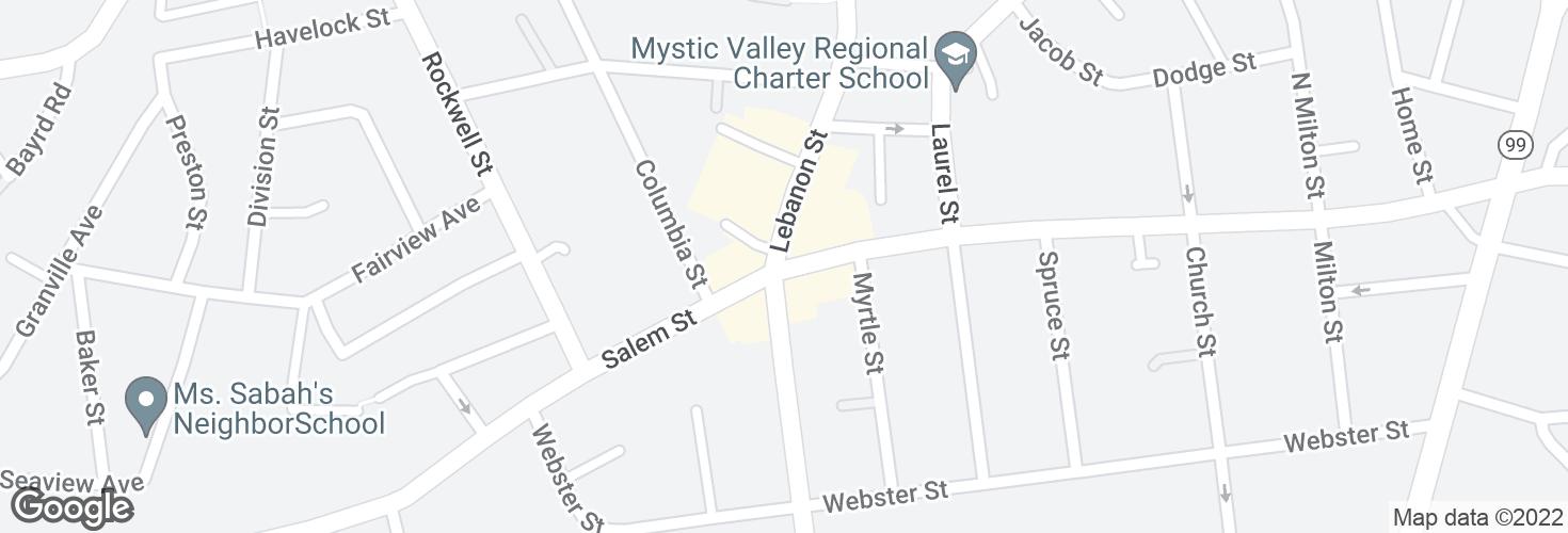 Map of Salem St @ Lebanon St and surrounding area