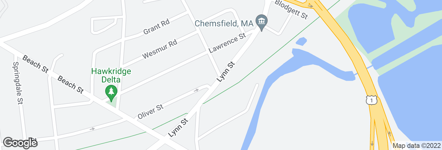 Map of Lynn St @ Oliver St and surrounding area