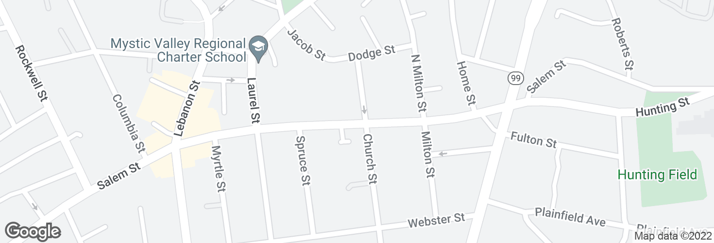 Map of Salem St @ Stanton St and surrounding area